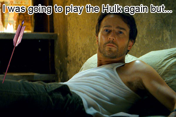 why edward noeton didnt play the hulk