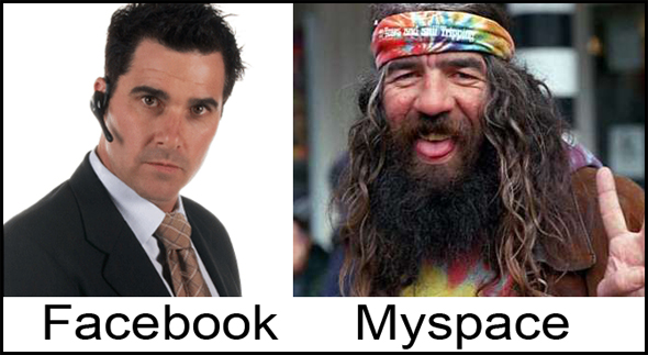 difference of facebook and myspace